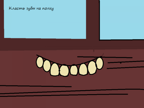 Положить зубы на полку значение фразеологизма одним